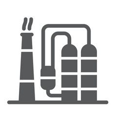 Refinery glyph icon industy and factory vector