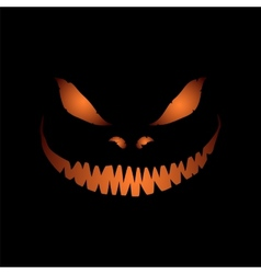 Scary face isolated on black background vector image
