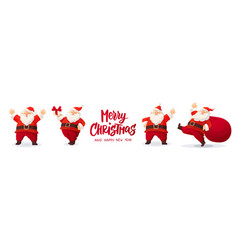 set cartoon christmas isolated on vector image