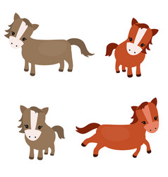 Set of cute horses set of cute horses vector