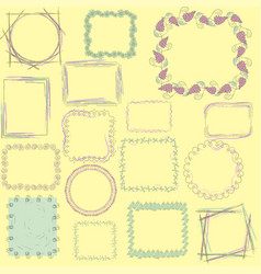 set wit sixteen frames vector image