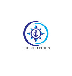Ship-logo-design vector