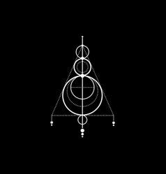 Sigil protection magic amulet sacred geometry vector