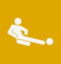 Sliding tackle football soccer sport figure vector