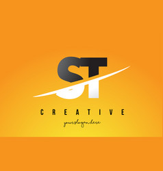 St s t letter modern logo design with yellow vector