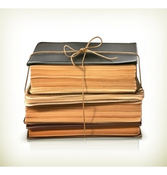 Stack of old books vector image