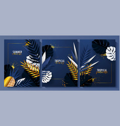 summer card setbeautiful background with white vector image