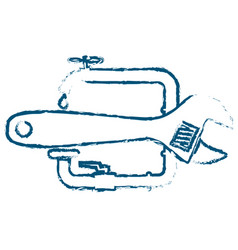 Symbol for repairing plumbing abstracts vector