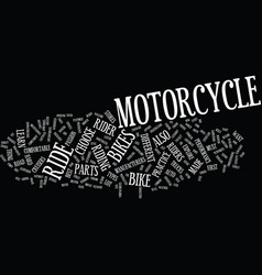 The best motorcycle ride ever text background vector