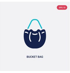 two color bucket bag icon from clothes concept vector image