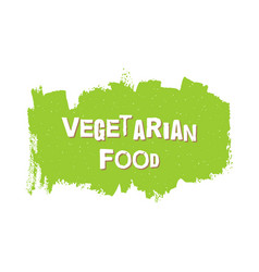 vegetarian healthy food fresh vegan eco bio vector image