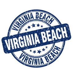 Virginia beach stamp vector