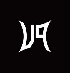 Vp monogram logo with sharped shape design vector