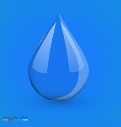 Water drop on blue isolated vector