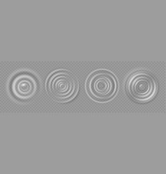 Water ripple realistic caustic drop or sound wave vector
