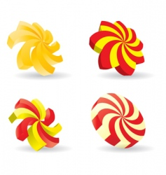 3d spiral icon vector image vector image