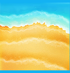 background with sea sand and waves vector image vector image