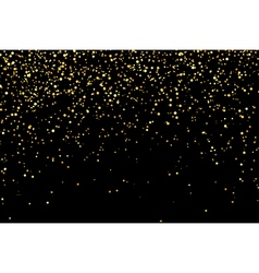 Gold glitter texture on a black background vector