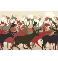 Reindeer herd vector image