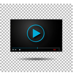 video player play button modern player vector image