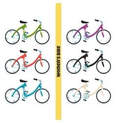Womens bike one vector