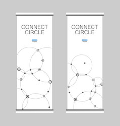 banners with connect circle vector image vector image