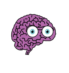 brain violet cartoon vector image vector image