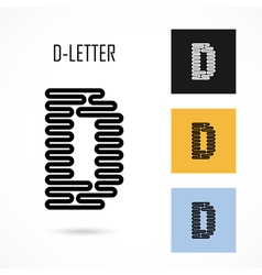 Creative D - letter icon abstract logo design vector image
