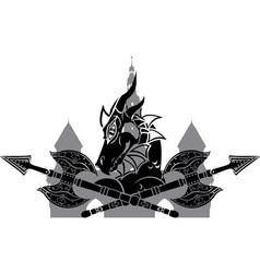 dragon town vector image