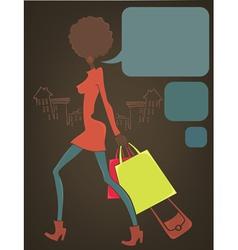 retro shopping vector image vector image