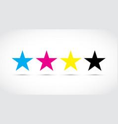 cmyk stars vector image