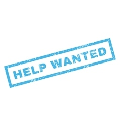 Help Wanted Rubber Stamp vector image vector image