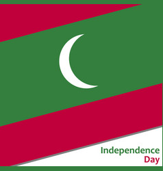 maldives independence day vector image vector image