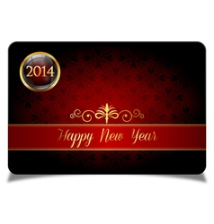 Red new year celebrate card vector image vector image