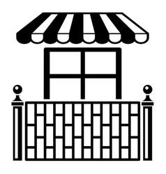 shop balcony icon simple style vector image vector image