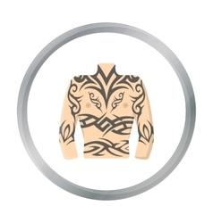 Body tattoo icon cartoon Single tattoo icon from vector image