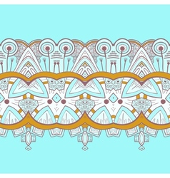 Horizontal lace steampunk ornament ornamental vector image vector image