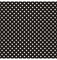 Seamless pattern white polka dots black background vector