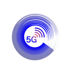 5g new wireless internet wifi connection - 5 g new vector image