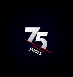 75 years anniversary celebration black and white vector