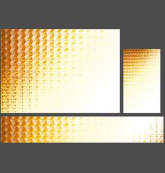 abstract orange polygonal background set vector image