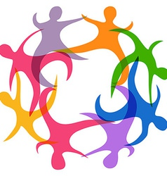 abstract teamwork symbol vector image