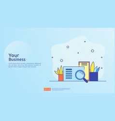 Accounting document data report concept vector