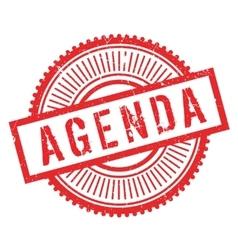 Agenda stamp rubber grunge vector