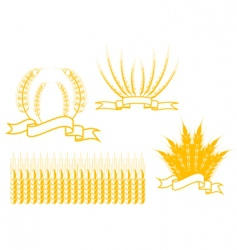 agriculture symbols vector image vector image