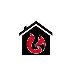 animal fox real estate home logo design template vector image