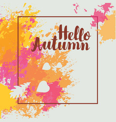 autumn banner with bright abstract spots vector image