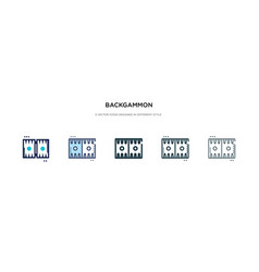 Backgammon icon in different style two colored vector