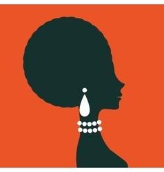 Beautiful elegant woman silhouette vector image
