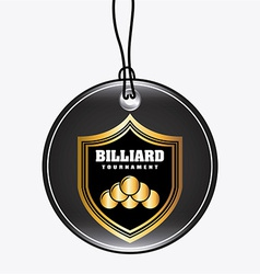 Billiard emblem vector